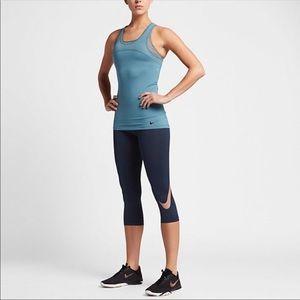 Nike Pro Training Leggings Capri Metallic Logo